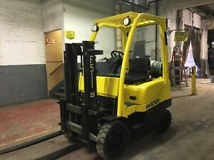 2009 Hyster 3000 Lb Solid Pneumatic Forklift With Trucker Mast