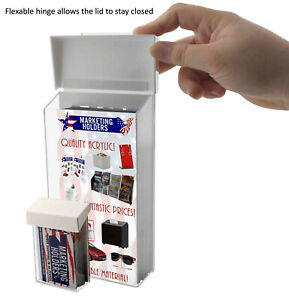 Outdoor Tri Fold Brochure Holders With Hook Business Card Pocket Qty 12