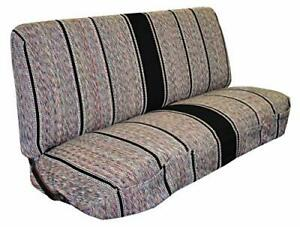 Saddle Blanket Truck Bench Seat Cover Fits Chevrolet Dodge Ford black