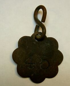 Original Vintage Coney Island Bath House Beach Tag Found With Metal Detector