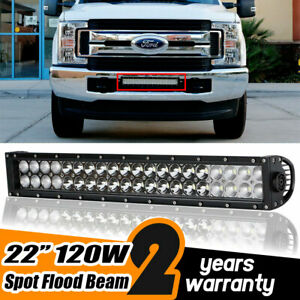120w 20 Led Light Bar Work Off Road Bumper Grille For 2017 2019 Ford F250 F350