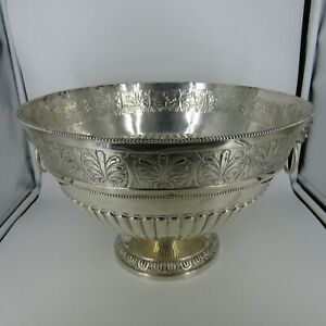 Antique English Sterling Silver Punch Bowl George Gilliam London 1894 5 5 Lbs