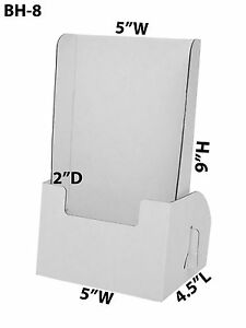 Cardboard Brochure Holder 5 X 9 Leaflet Countertop Displays Lot Of 100