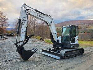 2014 Bobcat E85 Excavator Loaded Long Arm New Hydraulic Thumb Ready To Work