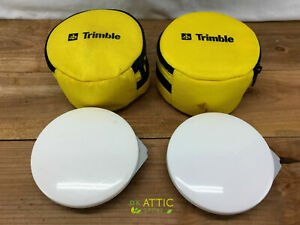 Pair Of Trimble Hurricane L1 Gps Antenna Receivers P n 50393 50 With Bags