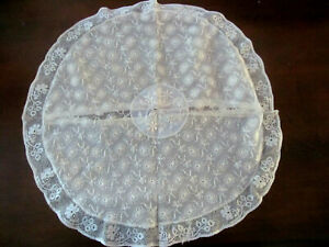 Vintage French Normandy Mixed Lace Pillow Cover 14 Round