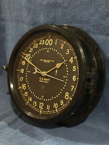 Fully Restored Wwii Us Navy 8 5 Dial Chelsea Ship Clock Serial No 309319