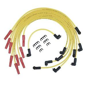 Accel Spark Plug Wires 8 8mm Spiral Core Yellow Stock Boots Fits Jeep V8 Set