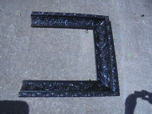Antique Cast Iron Victorian Art Nouveau Fireplace Surround Ornate