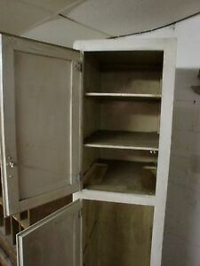 Vintage Chimney Pantry Cupboard Cabinet Closet 2 Door 82 5 Tall