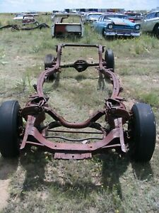 57 1957 Ford Custom Frame Chassis Narrow 9 9 Inch Axle With Paper