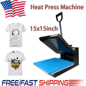 15x15 Clamshell Heat Press Machine Digital Sublimation Transfer T shirt Clothes