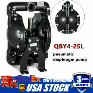 1 Aluminum Air operated Double Diaphragm Pump 35 Gpm 150 120 Psi Qby4 25l New