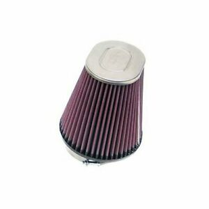 K n Air Filter Element Oval Tapered Cotton Gauze Red 3 5 Dia Inlet Rc 4400