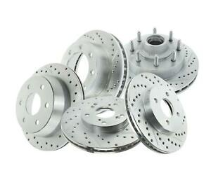 Summit Racing Sum br 66059lc Drilled Slotted Coated Rotor