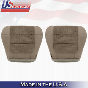 2001 2003 Ford F150 Xlt Front Driver Bottom Cloth Seat Cover Med Parchment Tan