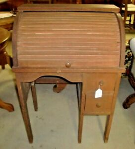 Antique Child Size Roll Top Desk