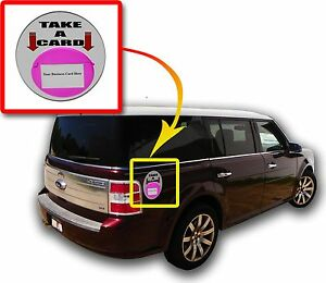 Vehicle Outdoor Business Card Holder Pink Magnetic Card Caddie Qty 6