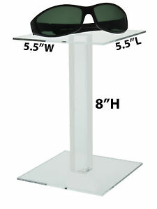 8 Square Riser Pedestal Clear Showcase Display Stand Acrylic For Jewelry Qty 24