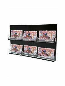 Business Card Organizer Wall Multi Pocket Display Gift Black Clear Qty 12