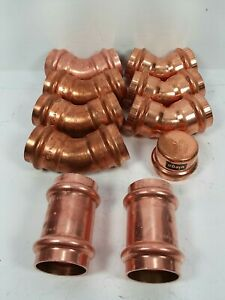 lot Of 10 Viega Nibco 1 propress Copper Fittings