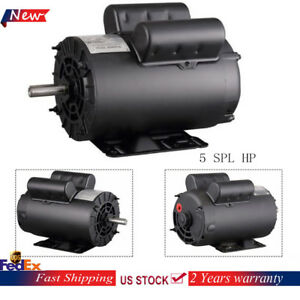 5 Hp Spl 3450 Rpm Air Compressor 60hz Single Phase Electric Motor B385 56 Frame