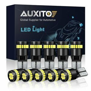 10x Auxito T10 2825 194 168 Map Dome License Plate Led White Light Canbus Bulb A