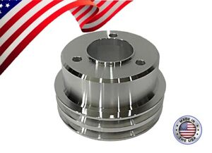 New Big Block Chevy Crank Pulley V Belt Double Groove 396 427 454 Bbc Lwp