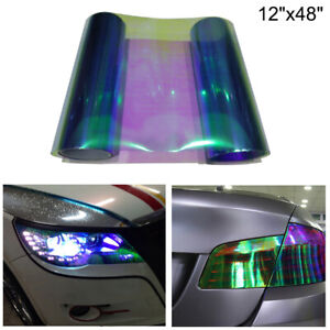 12 x48 Chameleon Light Blue Color Headlight Taillight Fog Light Vinyl Tint Film