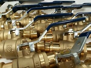 30 3 4 Propress Brass Press Ball Valves With Two O rings Each End Lead Free