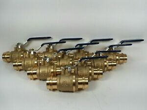 10 1 propress Brass Press Ball Valves With Two O rings Each End Lead Free