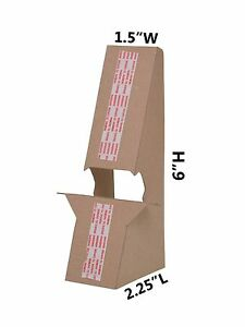 Cardboard 6 Double Wing Easel Kraft Lot Of 100 Wholesale