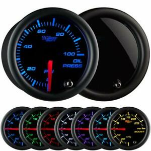 Glowshift Tinted 7 Color 100 Psi Oil Pressure Gauge Kit Includes Electronic