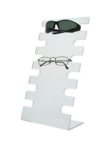 6 Tier Sunglasses Eyeglasses Display Rack Organizer Acrylic Stand Qty 6
