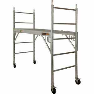 Metaltech Multi purpose 6ft Baker style Aluminum Scaffold 700lb cap i caisc