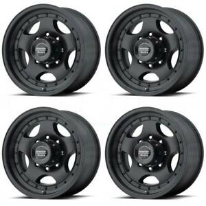 15x7 American Racing Ar23 5x114 3 5x4 5 6 Satin Black Wheels Rims Set 4