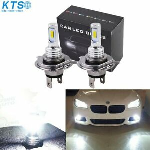 H4 9003 Hb2 Led Headlight Bulbs Kit High Low Beam Bright 35w 4000lm 6000k White