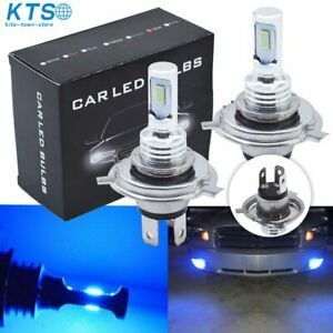 H4 9003 Hb2 Led Headlight Bulbs Kit High Low Beam Bright 35w 4000lm 8000k Blue