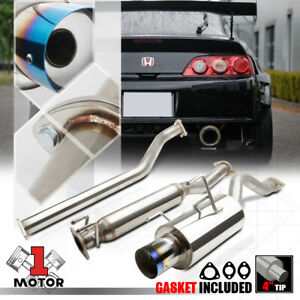 Ss Catback Exhaust System 4 Burnt Tip Muffler For 02 06 Acura Rsx Dc5 Type s