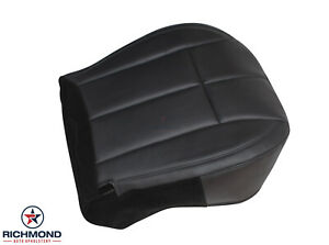 02 04 Jeep Grand Cherokee Limited driver Side Bottom Leather Seat Cover Dk Gray