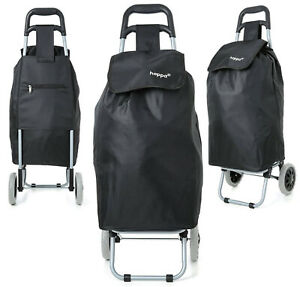 Two Wheeled Shopping Cart Lightweight Folding Hand Truck Grocery Trolley Bag 47l