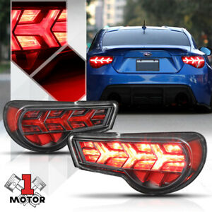 Black clear sequential Red Signal Tail Light Lamp For 13 19 Scion Frs 86 brz