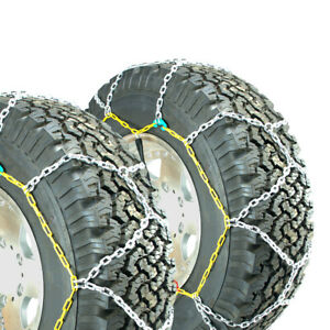 Titan Diamond Alloy Square Tire Chains On Road Snow Ice 3 7mm 265 75 17