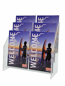 Brochure Display Stand 3 Tier 9 Pamphlet Holder 5 5 w Trifold Organizer