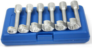 6pc 1 2 Drive Diesel Fuel Injection Injector Line Socket Set 12mm 19mm