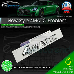 4matic Trunk Emblem Chrome 3d Tailgate Lid Oem Logo Badge Amg New Style Modified