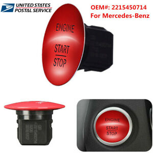 2215450514 For Mercedes benz Engine Keyless Start stop Push Button Switch Red us
