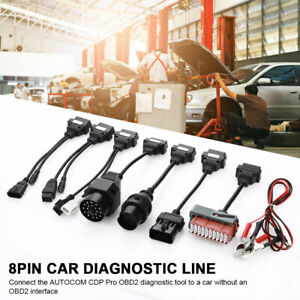 8pcs Obd2 Car Cables Connector Auto Diagnostic Line Full Set For Autocom Cdp Pro