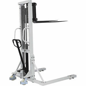 Strongway Manual Pallet Stacker 2200 lb Capacity 63in Max Lift