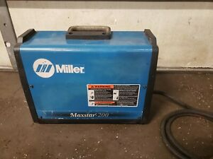 Miller Maxstar 200 Str Tig And Arc Portable Welder 110v Or 220